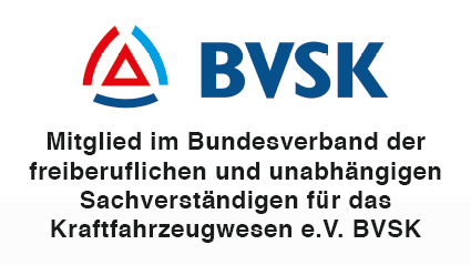 Mitglied im Bundesverband der freiberuflichen und unabhängigen Sachverständigen für das Kraftfahrzeugwesen e.V. BVSK