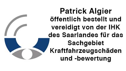 öffentlich bestellt und vereidigt von der IHK des Saarlandes für das Sachgebiet Kraftfahrzeug- schäden und -bewertung